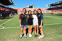 Houston, TX - Sunday Oct. 09, 2016: Sweepstakes winners prior to a National Women's Soccer League (NWSL) Championship match between the Washington Spirit and the Western New York Flash at BBVA Compass Stadium.