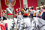 (L-R) King Felipe VI of Spain and Queen Letizia of Spain attend the National Day military parade. October 12 ,2016. (ALTERPHOTOS/Acero)