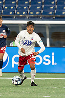 FOXBOROUGH, MA - OCTOBER 16: Dominick Hernandez #15 of North Texas SC during a game between North Texas SC and New England Revolution II at Gillette Stadium on October 16, 2020 in Foxborough, Massachusetts.