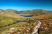 Beinn Mheadhoin and Cairn Gorm from above Loch Etchachan, Cairngorm National Park, Badenoch & Speyside