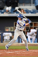 Indiana State Sycamores shortstop Tyler Friis (3) at bat during a game against the Vanderbilt Commodores on February 20, 2015 at Charlotte Sports Park in Port Charlotte, Florida.  Vanderbilt defeated Indiana State 3-2.  (Mike Janes/Four Seam Images)