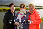 Enjoying a stroll in Blennerville on Sunday, l to r: Deirdre Munnelly, Hannah and Helena Young and Ellie the dog.