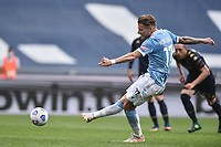 Ciro Immobile of SS Lazio sores on penalty the goal of 2-0 during the Serie A football match between SS Lazio and Genoa at Olimpico Stadium in Roma (Italy), May 2th, 2021. Photo Antonietta Baldassarre / Insidefoto