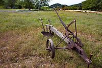 Antique plow; Southern California Montane Botanic Garden