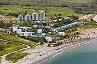 aerial photograph of Playa Blanca, a Pacific coast beach, Panama | fotografía aérea de Playa Blanca, una playa de la costa del Pacífico, Panamá