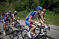 Thibaut Pinot (FRA/Groupama-FDJ)<br /> <br /> Stage 8: Cluses (FRA) to Champéry (SUI)(113km)<br /> 71st Critérium du Dauphiné 2019 (2.UWT)<br /> <br /> ©kramon