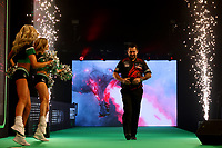 26th May 2021; Marshall Arena, Milton Keynes, Buckinghamshire, England; Professional Darts Corporation, Unibet Premier League Night 15 Milton Keynes; Jonny Clayton is presented to the crowd