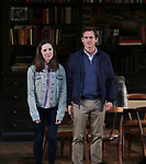 """Talene Monahon and Hugh Dancy during the Opening Night Curtain Call Bows for the Roundabout Theatre Company production of """"Apologia"""" on October 16, 2018 at the Laura Pels Theatre in New York City."""