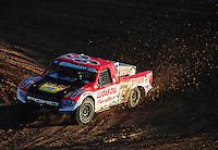 Dec. 10, 2011; Chandler, AZ, USA;  LOORRS pro 2 unlimited driver Rodrigo Ampudia during round 15 at Firebird International Raceway. Mandatory Credit: Mark J. Rebilas-