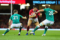 Owen Watkin of Wales in action during the under armour summer series 2019 match between Wales and Ireland at the Principality Stadium, Cardiff, Wales, UK. Saturday 31st August 2019