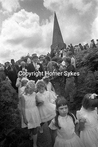 The John Knill ceremony,  Worvas Hill, St Ives, Cornwall. England 1971
