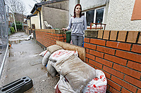 Pictured: Joanne Mardon outside her flood affected  house in Wordsworth Gardens in the Rhydyfelin area of Pontypridd. Wednesday 04 March 2020<br /> Re: Revisiting the flood affected areas in Pontypridd, Wales, UK.