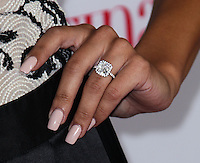 """HOLLYWOOD, CA - OCTOBER 03: Actress Naya Rivera shows off engagement ring (Engaged to Big Sean) at Latina Magazine's """"Hollywood Hot List"""" Party held at The Redbury Hotel on October 3, 2013 in Hollywood, California. (Photo by Xavier Collin/Celebrity Monitor)"""