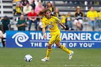 24 OCTOBER 2010:  Columbus Crew defender Frankie Hejduk (2) during MLS soccer game against the Philadelphia Union at Crew Stadium in Columbus, Ohio on August 28, 2010.