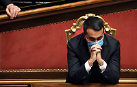 The Italian Minister of Foreign Affairs Luigi Di Maio during the information at the Senate about the government crisis.<br /> Rome(Italy), January 19th 2021<br /> Photo Pool Alessia Pierdomenico/Insidefoto
