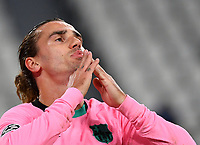 Football Soccer: UEFA Champions League -Group Stage-  Group G - Juventus vs FC Barcellona, Allianz Stadium. Turin, Italy, October 28, 2020.<br /> Barcellona's Antoine Griezmann reacts during the Uefa Champions League football soccer match between Juventus and Barcellona at Allianz Stadium in Turin, October 28, 2020.<br /> UPDATE IMAGES PRESS/Isabella Bonotto