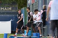 Lionel Leo Messi ( 30 - PSG ) - Leandro Paredes ( 8 - PSG ) - <br /> Saint Germain en Laye 13/08/2021 <br /> Training Paris Saint Germain  <br /> Football Ligue 1 2021/2022<br /> Photo Federico Pestellini/Panoramic/insidefoto <br /> ITALY ONLY