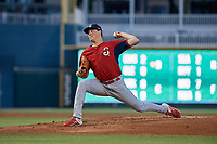Springfield Cardinals pitcher Evan Kruczynski (35) during a Texas League game against the Frisco RoughRiders on May 7, 2019 at Dr Pepper Ballpark in Frisco, Texas.  (Mike Augustin/Four Seam Images)
