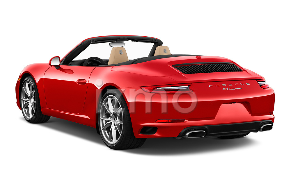 Car pictures of rear three quarter view of 2018 Porsche 911 Carrera 2 Door Convertible Angular Rear