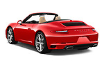 Car pictures of rear three quarter view of 2018 Porsche 911 Carrera 2 Door Convertible Angular Rear