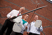 Pictured from left are John Ashmore, Lisa Davis and John Blackwell from Protectis, of Nottingham