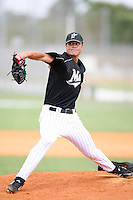 April 14, 2009:  Pitcher Daniel (Dan) Jennings of the Florida Marlins extended spring training team delivers a pitch during a game at Roger Dean Stadium Training Complex in Jupiter, FL.  Photo by:  Mike Janes/Four Seam Images