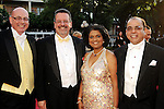 From left: Colin Ure and Anthony Freud with Omana and Samuel Abraham at the Houston Grand Opera's Yellow Rose Ball at the Wortham Theater Saturday April 10,2010. (Dave Rossman Photo)