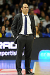 Real Madrid´s second coach Jesus Mateo during 2014-15 Liga Endesa match between Real Madrid and Unicaja at Palacio de los Deportes stadium in Madrid, Spain. April 30, 2015. (ALTERPHOTOS/Luis Fernandez)
