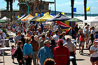 Saturday, October 11, 2008.  Pacific Beach, San Diego, USA.  Visitors to the 2008 Pacific Beach enjoy the festivities under clear skies and unusually strong breezes.