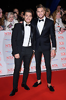 Kem Cetinay and Chris Hughes<br /> arriving for the National Television Awards 2018 at the O2 Arena, Greenwich, London<br /> <br /> <br /> ©Ash Knotek  D3371  23/01/2018