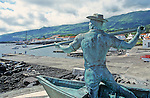 statue in front of the whaling industry museum, in the town of São Roque