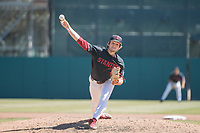 STANFORD, CA - MAY 29: Brandt Pancer during a game between Oregon State University and Stanford Baseball at Sunken Diamond on May 29, 2021 in Stanford, California.