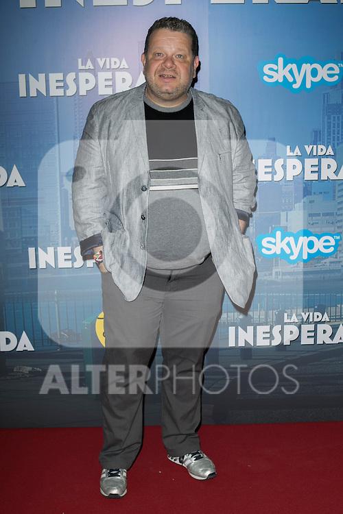"""Alberto Chicote attend the Premiere of the movie """"La vida inesperada"""" at the Callao Cinema in Madrid, Spain. April 25, 2014. (ALTERPHOTOS/Carlos Dafonte)"""