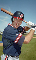 Cleveland Indians Jim Thome (25) during Spring Training 1993 at Chain of Lakes Park in Winter Haven, Florida.  (MJA/Four Seam Images)