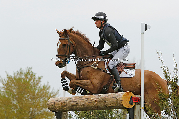 April 24, 2021: #18 Bango and rider Tim Price in the Cross Country test at the Land Rover Three Day Event at the Kentucky Horse Park in Lexington, KY on April 24, 2021.  Candice Chavez/ESW/CSM