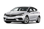 Stock pictures of low aggressive front three quarter view of 2020 Opel Astra Edition 5 Door Hatchback Low Aggressive