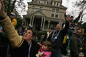 New Orleans, Louisiana.February 19, 2006..Mardi Gras parades in uptown and downtown New Orleans.