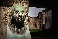 At the House of Lucius Caecilius Jucundus a bust of the owner, a prominent banker in Pompeii