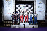 15th March 2020, WRC of Mexico final day after  final three stages, SS19 to SS21;  Ott Tanak (EST) - Martin Jarveoja (EST) - Hyundai i20 WRC -  Sebastien Ogier (FRA) – Julien Ingrassia (FRA) - Toyota Yaris WRC -  Teemu Suninen (FIN) - Jarmo Lehtinen (FIN) - Ford Fiesta WRC