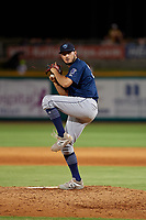 Mobile BayBears pitcher Joe Gatto (33) during a Southern League game against the Mobile BayBears on July 25, 2019 at Blue Wahoos Stadium in Pensacola, Florida.  Pensacola defeated Mobile 3-2 in the second game of a doubleheader.  (Mike Janes/Four Seam Images)