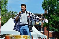 Montreal (Qc) CANADA - August 13, 2011 - Monsieur Alan Itakura,  Président du Centre Culturel Canadien Japonais de Montréal  a mentionné<br /> que ''le Centre Culturel Canadien Japonais de Montréal  est fier d'être un commanditaire du Matsuri Japon pour la dixième année consécutive''<br /> en plus de féliciter la Présidente du Matsuri-Japon Jennifer Sakai et son équipe