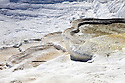View of Pamukkale deposits from the top