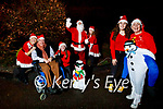 Tonevane Residents after shooting a charity video for the Irish Wheelchair Association.<br /> front: Aoife Bourke and Gda Mary Gardiner. Back l to r:  Cllr Terry, Teresa and Millie O'Brien, Santa Claus and Lisa Curran,