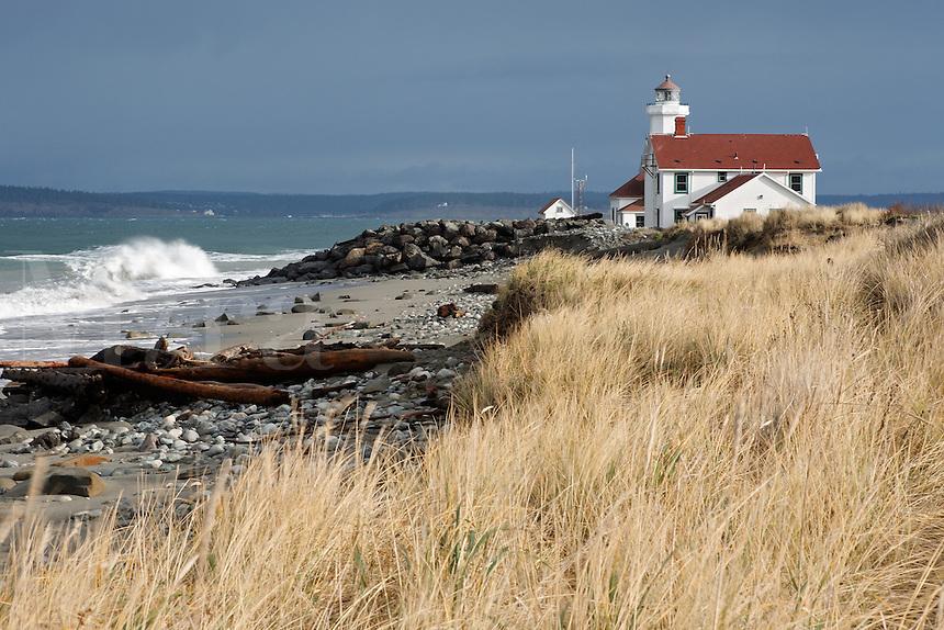 Point Wilson Lighthouse, Fort Warden State Park, Washington, USA