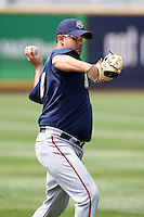 April 11, 2010:  Pitcher Victor Garate of the Harrisburg Senators during a game at Blair County Ballpark in Altoona, PA.  Harrisburg is the Double-A Eastern League affiliate of the Washington Nationals.  Photo By Mike Janes/Four Seam Images