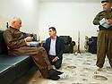 Iraq 2014           <br /> At the headquarters of Hamid Effendi , near the front line at Dubardan  <br /> Irak 2014 <br /> Apres dejeuner au quarier general de Hamid Effendi pres de la ligne du front a Dubardan