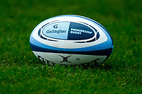 21st November 2020; Welford Road Stadium, Leicester, Midlands, England; Premiership Rugby, Leicester Tigers versus Gloucester Rugby; Detail of the Gallagher Premiership Gilbert Ball