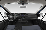 Stock photo of straight dashboard view of 2021 Nissan NV400 Acenta 2 Door Chassis Cab Dashboard