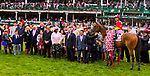 LOUISVILLE, KY - MAY 05: Abel Tasman Connections in the winners circle after winning the Longines Kentucky Oaks on Kentucky Oaks Day at Churchill Downs on May 5, 2017 in Louisville, Kentucky. (Photo by Sue Kawczynski/Eclipse Sportswire/Getty Images)