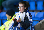 St Johnstone v Aberdeen…22.04.16  McDiarmid Park, Perth<br />A young saints fan applauds the the team<br />Picture by Graeme Hart.<br />Copyright Perthshire Picture Agency<br />Tel: 01738 623350  Mobile: 07990 594431